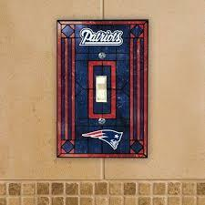 New England Patriots Art Glass Switch Plate