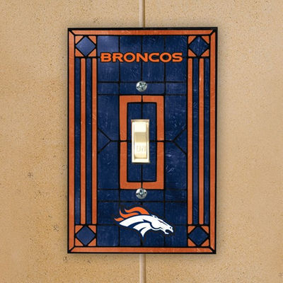 Denver Broncos Art Glass Switch Plate