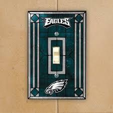 Philadelphia Eagles Art Glass Switch Plate