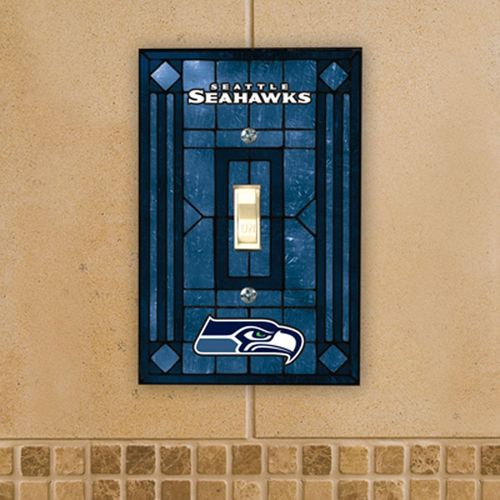 Seattle Seahawks Art Glass Switch Plate