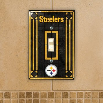 Pittsburgh Steelers Art Glass Switch Plate