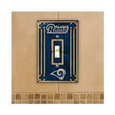 Los Angeles Rams Art Glass Switch Plate