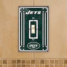 New York Jets Art Glass Switch Plate