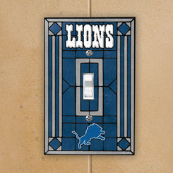 Detroit Lions Art Glass Switch Plate