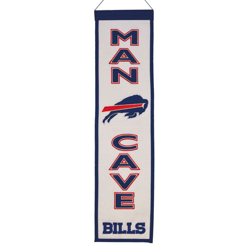 "Buffalo Bills Wool 8"" x 32"" Man Cave Banner"