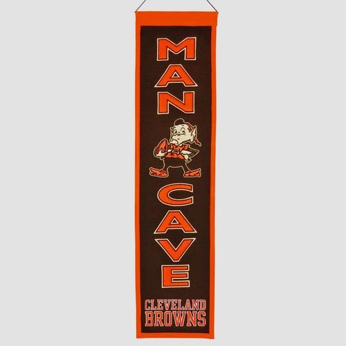"Cleveland Browns Wool 8"" x 32"" Man Cave Banner"