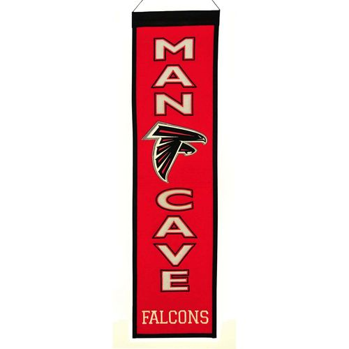 "Atlanta Falcons Wool 8"" x 32"" Man Cave Banner"
