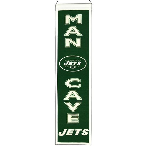 "New York Jets Wool 8"" x 32"" Man Cave Banner"