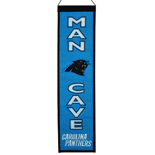 "Carolina Panthers Wool 8"" x 32"" Man Cave Banner"