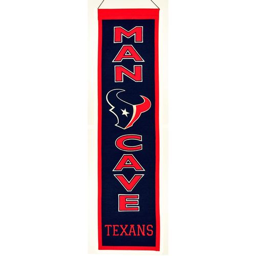 "Houston Texans Wool 8"" x 32"" Man Cave Banner"