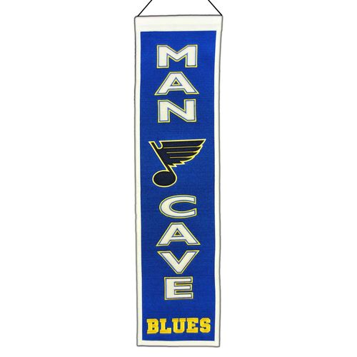 "St. Louis Blues Wool 8"" x 32"" Man Cave Banner"