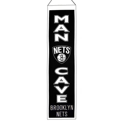 "Brooklyn Nets Wool 8"" x 32"" Man Cave Banner"