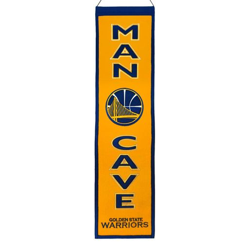 "Golden State Warriors Wool 8"" x 32"" Man Cave Banner"