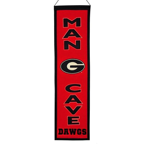 "Georgia Bulldogs Wool 8"" x 32"" Man Cave Banner"