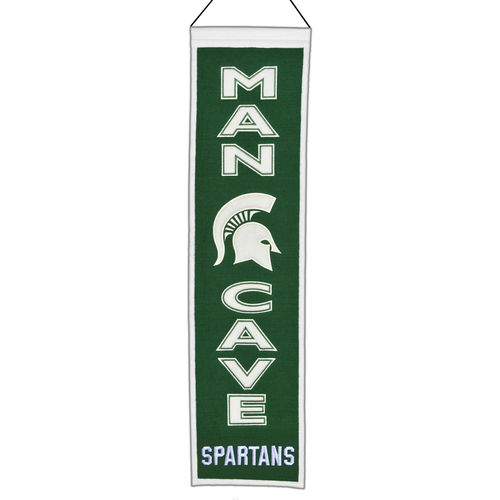 "Michigan State Spartans Wool 8"" x 32"" Man Cave Banner"