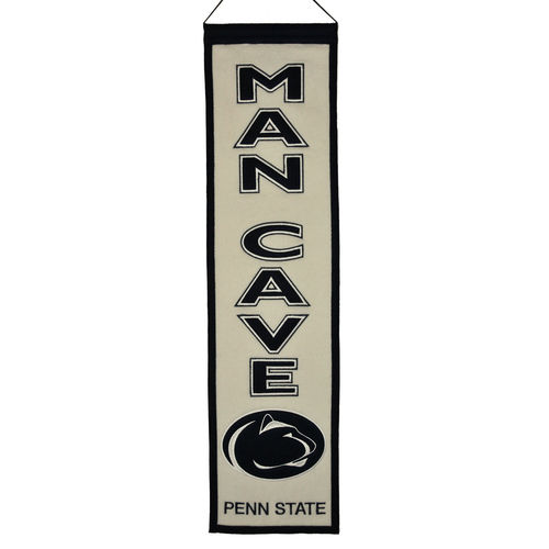 "Penn State Nittany Lions Wool 8"" x 32"" Man Cave Banner"