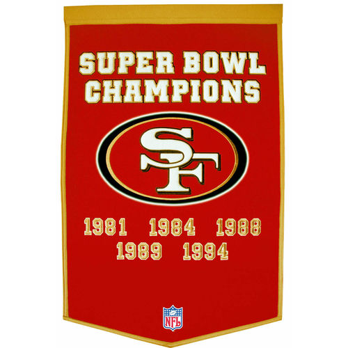 "San Francisco 49ers Wool 24"" x 36"" Dynasty Banner"