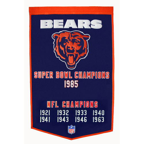 "Chicago Bears Wool 24"" x 36"" Dynasty Banner"