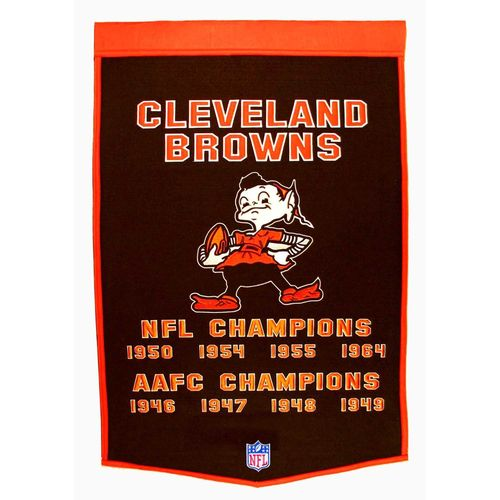 "Cleveland Browns Wool 24"" x 36"" Dynasty Banner"