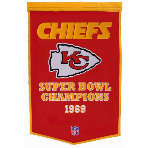 "Kansas City Chiefs Wool 24"" x 36"" Dynasty Banner"