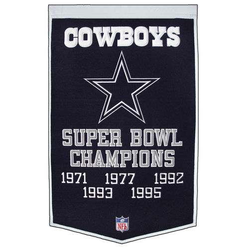 "Dallas Cowboys Wool 24"" x 36"" Dynasty Banner"