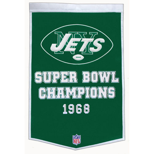 "New York Jets Wool 24"" x 36"" Dynasty Banner"