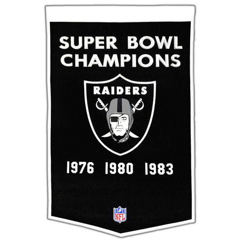 "Oakland Raiders Wool 24"" x 36"" Dynasty Banner"