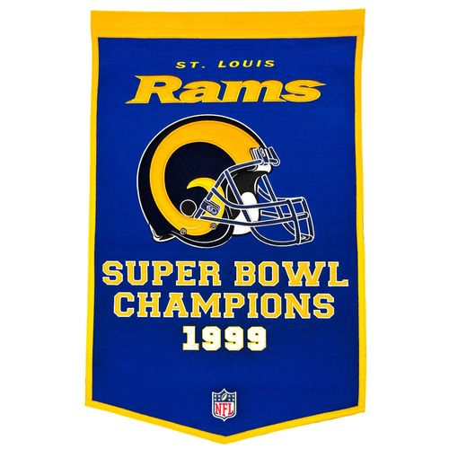 "St. Louis Rams Wool 24"" x 36"" Dynasty Banner"