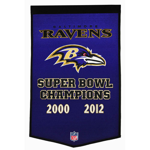 "Baltimore Ravens Wool 24"" x 36"" Dynasty Banner"