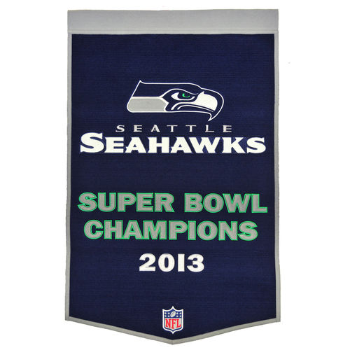 "Seattle Seahawks Wool 24"" x 36"" Dynasty Banner"