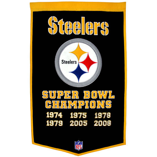 "Pittsburgh Steelers Wool 24"" x 36"" Dynasty Banner"
