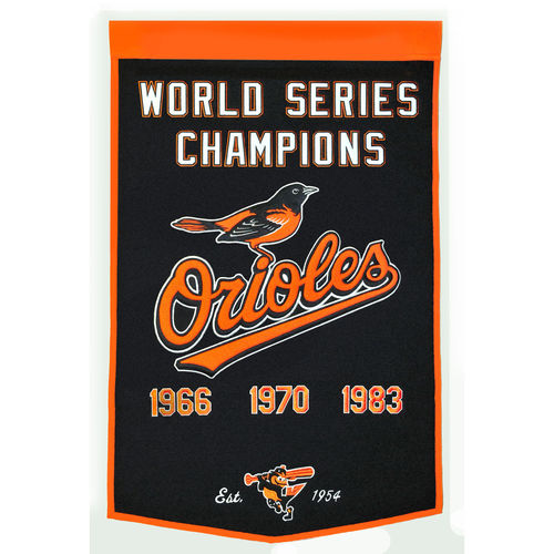 "Baltimore Orioles Wool 24"" x 36"" Dynasty Banner"