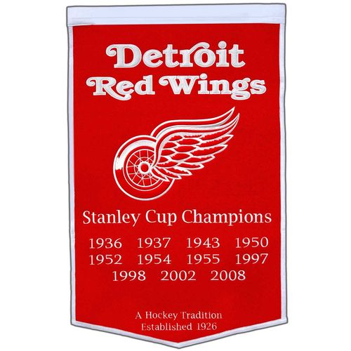 "Detroit Red Wings Wool 24"" x 36"" Dynasty Banner"