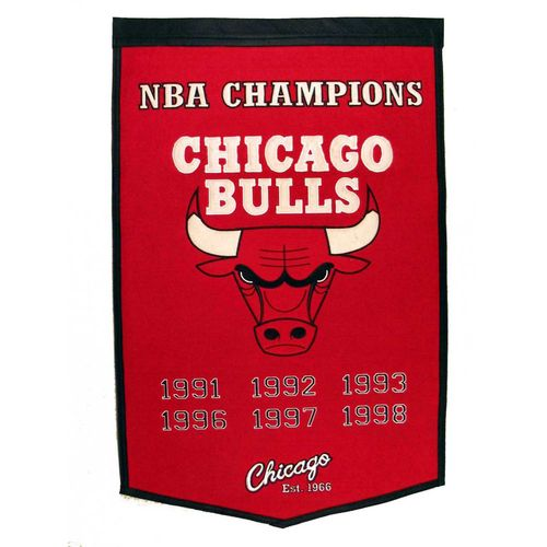 "Chicago Bulls Wool 24"" x 36"" Dynasty Banner"