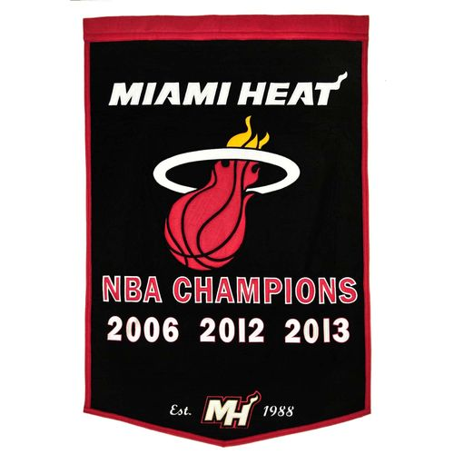 "Miami Heat Wool 24"" x 36"" Dynasty Banner"