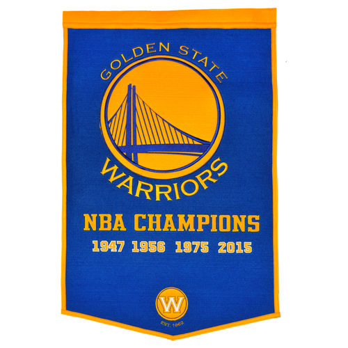 "Golden State Warriors Wool 24"" x 36"" Dynasty Banner"
