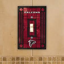 Atlanta Falcons Art Glass Switch Plate