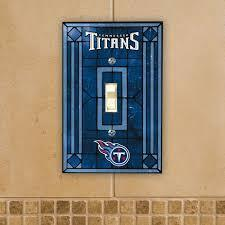 Tennessee Titans Art Glass Switch Plate