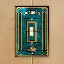 Jacksonville Jaguars Art Glass Switch Plate