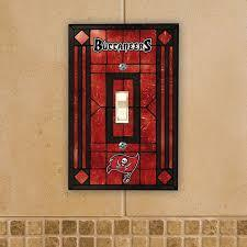 Tampa Bay Buccaneers Art Glass Switch Plate