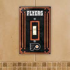 Philadelphia Flyers Art Glass Switch Plate