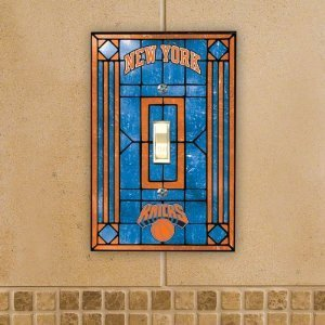 New York Knicks Art Glass Switch Plate