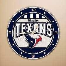 Houston Texans Art Glass Clock
