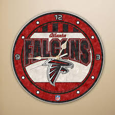 Atlanta Falcons Art Glass Clock
