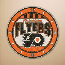 Philadelphia Flyers Art Glass Clock