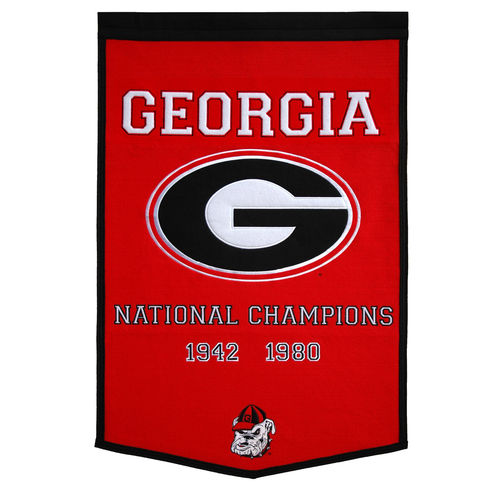 "Georgia Bulldogs Wool 24"" x 36"" Dynasty Banner"