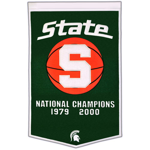 "Michigan State Spartans Wool 24"" x 36"" Dynasty Banner"