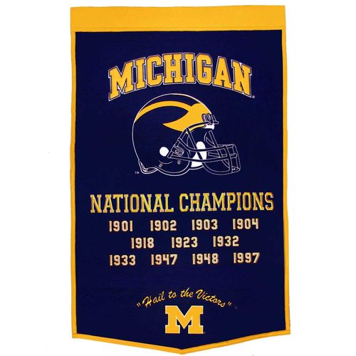 "Michigan Wolverines Wool 24"" x 36"" Dynasty Banner"