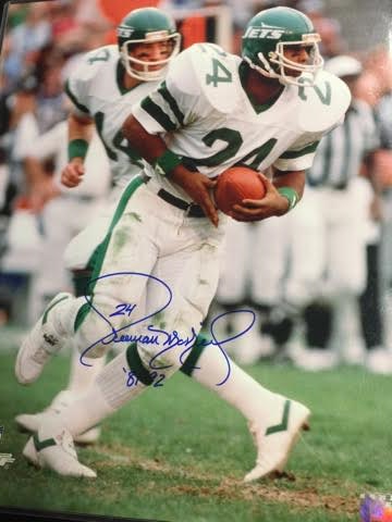 FREEMAN MCNEIL JETS 16X20 AUTOGRAPHED WITH COA