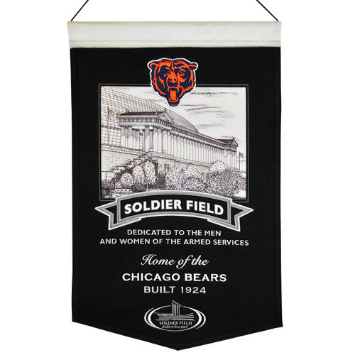 "Chicago Bears Soldier Field Wool 15"" x 20"" Commemorative Banner"